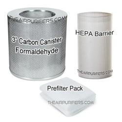 AirPura F600DLX Bundle 3 Carbon Canister, HEPA-Barrier, Prefilter