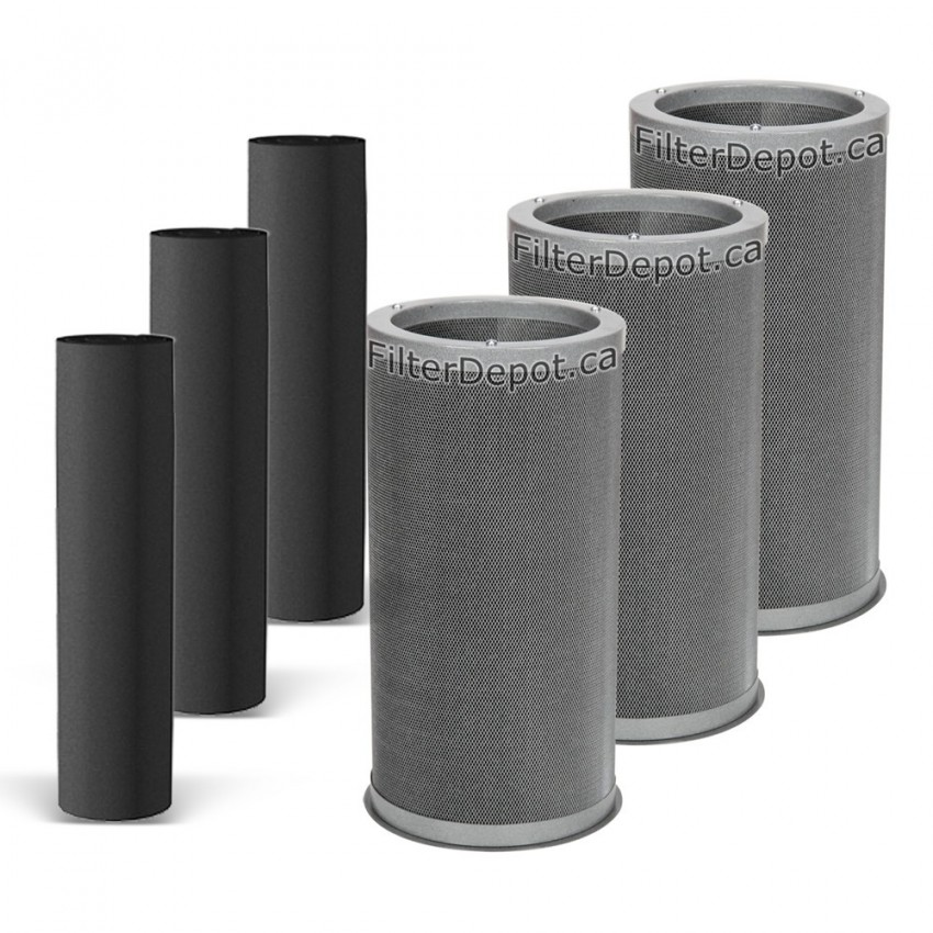 Amaircare 10000 Easy Twist Trihepa Plus Annual Filter Kit