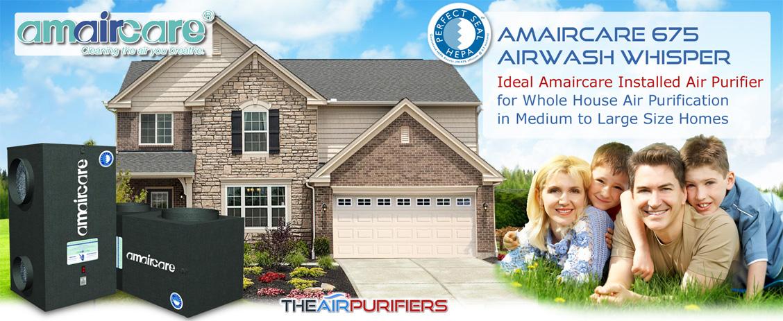 Amaircare AirWash Whisper 675 / AWW675 Air Purifier - TheAirPurifiers.com