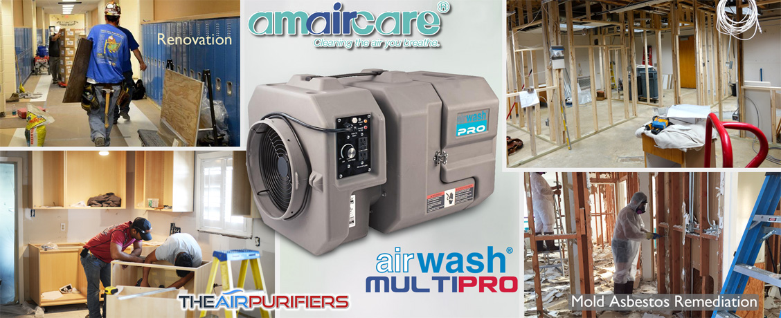 Amaircare AirWash MultiPro Heavy Duty Contractor Air Scrubber Purifier at TheAirPurifiers.com