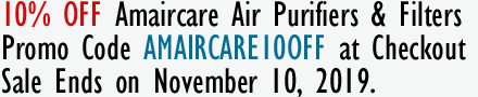 10% Off on Amaircare Air Purifiers & Filters