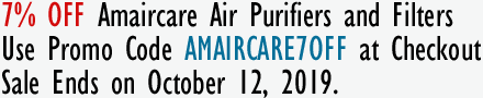 7% Off on Amaircare Air Purifiers and Filters