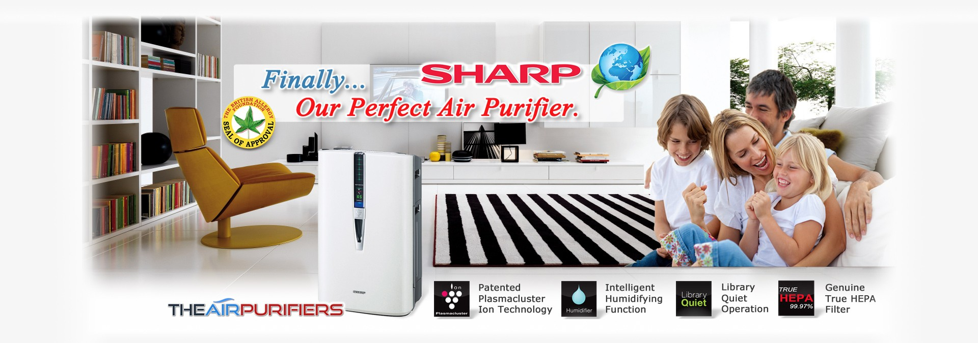 Sharp Plasmaclsuster Ion - World's Most Awarded Air Purifiers